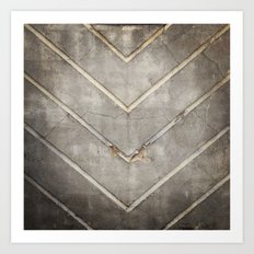 Concrete Chevron Art Print