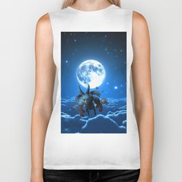 above the cloud Biker Tank