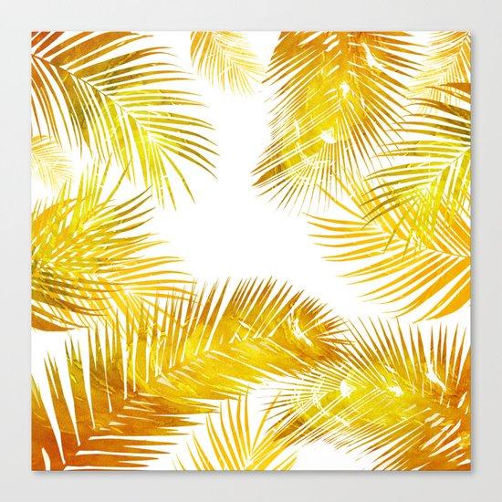 natural gold, tropical Canvas Print