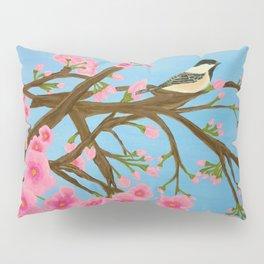 Chickadee on Cherry Tree Pillow Sham