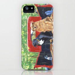 Antique Truck with Dogs iPhone Case