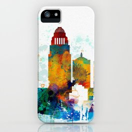 Louisville colorful watercolor skyline iPhone Case