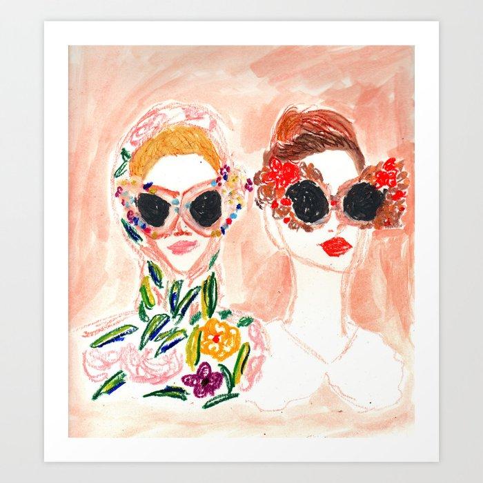 Dolce and Gabbana Girls Art Print