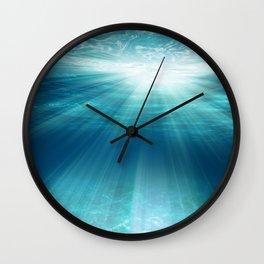 Light Rays Underwater Wall Clock