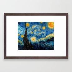 A Starry Night at Hogwarts Framed Art Print