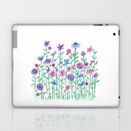 Cheerful spring flowers watercolor Laptop & iPad Skin