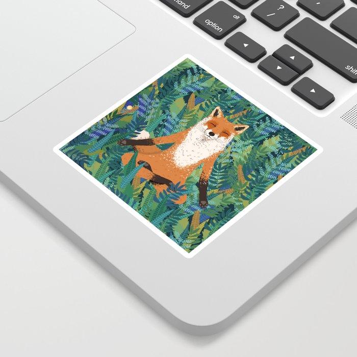 Fox Yoga Sticker