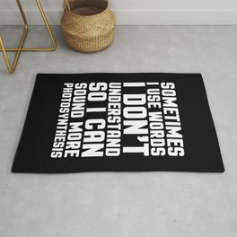 Words I Don't Understand Funny Quote Rug