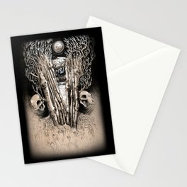 WINTERY GRAVE Stationery Cards