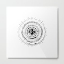 Geometric Digital Abstract - Synthesis Metal Print