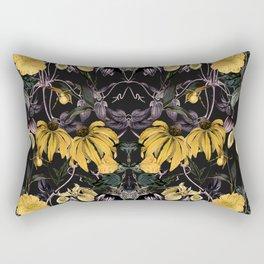 Nocturnal botanical garden kaleidoscope Rectangular Pillow