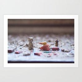 lethal cuteness Art Print