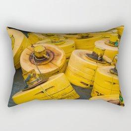 Yellow gathering Rectangular Pillow