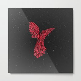 Gallito de las rocas peruvian bird red version by #Bizzartino Metal Print