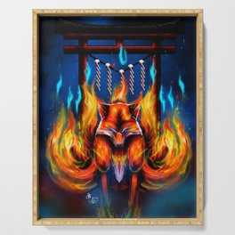9 Tails Fire Fox Serving Tray