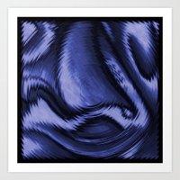 Blue Ballet Art Print