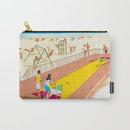 Shuffleboard Art from the 1960's. Carry-All Pouch