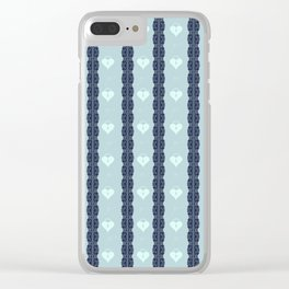 Blue Locket Clear iPhone Case