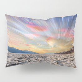 Stopping Time : Colorful Sky Landscape Pillow Sham