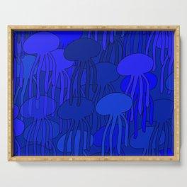 Jellyfish Blue Serving Tray