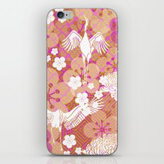 Gold Crane Floral iPhone & iPod Skin