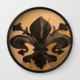 Fluer de lis Wall Clock