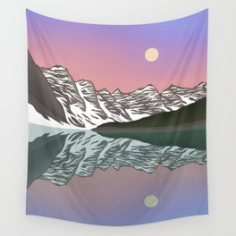 Moraine Moonrise Wall Tapestry