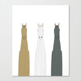 Triple Horses Canvas Print