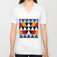 aztec V-neck T-shirts featuring Aztec by Chris Lang