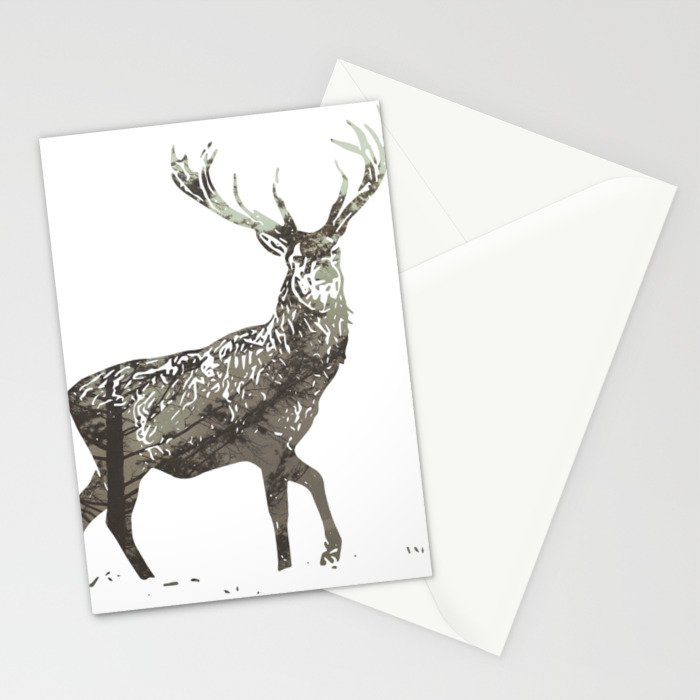 Elk in the Mist Stationery Cards