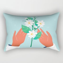 Hello again, dear Spring!  Rectangular Pillow