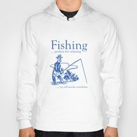 fishing Hoodies featuring Fishing by AmazingVision
