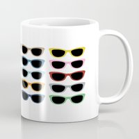 sunglasses Mugs featuring Sunglasses #2 by Project M