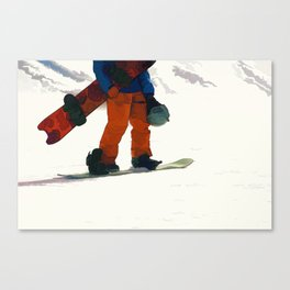 Ready to Ride! - Snowboarder Canvas Print
