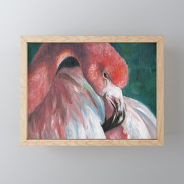 Friendly Flamingo Framed Mini Art Print