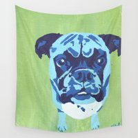 boxer Wall Tapestries featuring Boxer by mkfineart