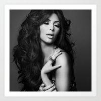 kardashian Art Prints featuring Kim Kardashian West by I Love Decor