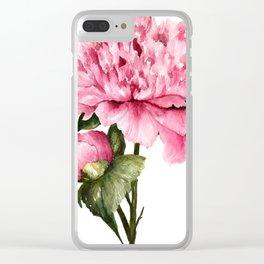 Peony III Clear iPhone Case