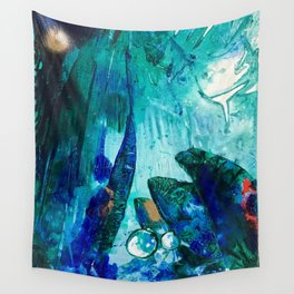 Bright Ocean Spaces, Tiny World Collection Wall Tapestry
