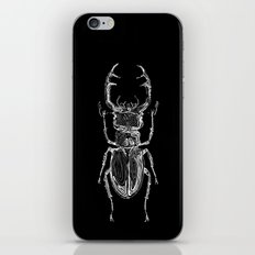Lucanus cervus on dark iPhone Skin