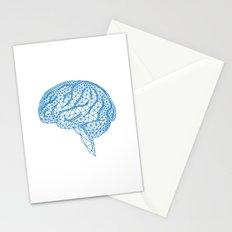 blue human brain Stationery Cards