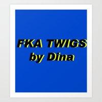fka twigs Art Prints featuring FKA TWIGS by DINA LOPEZ