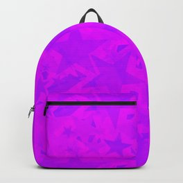 Calm intersecting blurred purple stars on a lilac background. Backpack