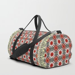 V12 Red Traditional Moroccan Rug Pattern. Duffle Bag