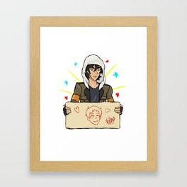 Klance, Keith draws Lance Framed Art Print