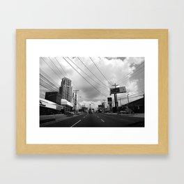 Driving in Panama City Framed Art Print