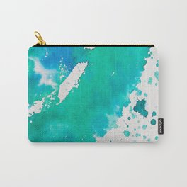 My Inky Fingers - Paint Smearing and Pouring - Aqua Marine Carry-All Pouch