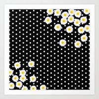 daisy Art Prints featuring DAISY by Monika Strigel