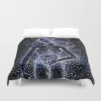 pagan Duvet Covers featuring Nuit - The Starry Goddess by Stevyn Llewellyn