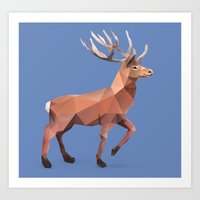 reindeer Art Prints featuring Reindeer.  by Diana D'Achille